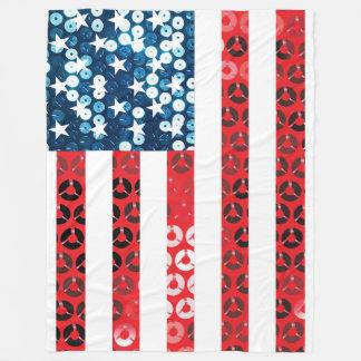 vertical american flag blanket