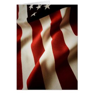 Vertical American flag Card