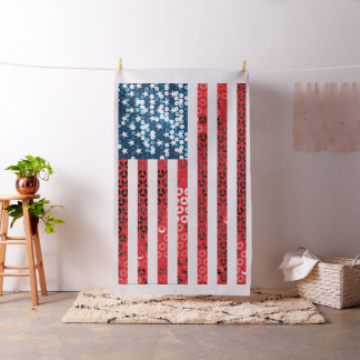 vertical american flag fabric