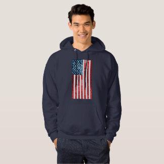vertical american flag mens hooded sweatshirt