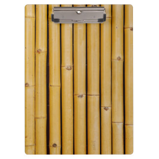 Vertical Bamboo Wood Pattern Clipboard
