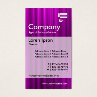 Vertical Banded - Brushed Magenta Business Card