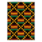 Vertical Black, Green, Red, and Yellow Kente Cloth Card