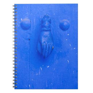 Vertical Blue Door Knocker Notebook
