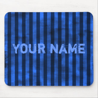 Vertical blue stripes mouse pad