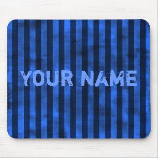 Vertical blue stripes mouse pad