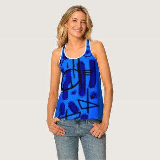 Vertical Blues women all-over tank top