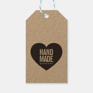 Vertical Bold Rustic Handmade Heart Kraft Gift Tags