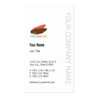 Vertical business logo modern custom professional pack of standard business cards