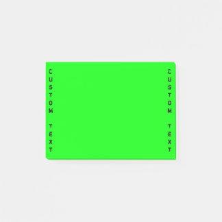 Vertical Custom Text | Vibrant Green Post-it Notes