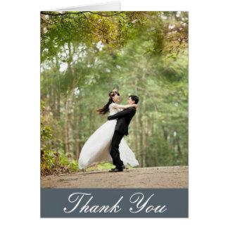 Vertical Custom Wedding Photo Thank You Card