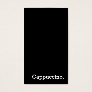 Vertical Dark Loyalty Cappuccino Punch-Card Business Card