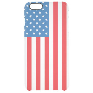Vertical Display of United States of America Flag Clear iPhone 6 Plus Case