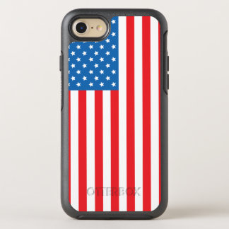 Vertical Display of United States of America Flag OtterBox Symmetry iPhone 7 Case