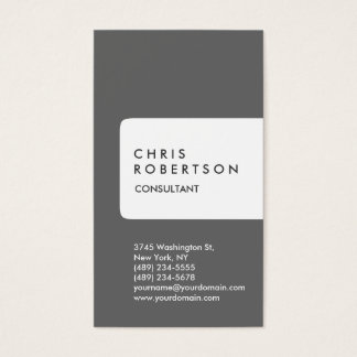 Vertical Gray White Stripe Business Card
