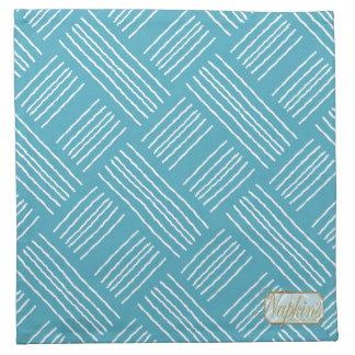 Vertical Horizontal Lines Blue Cloth Napkin