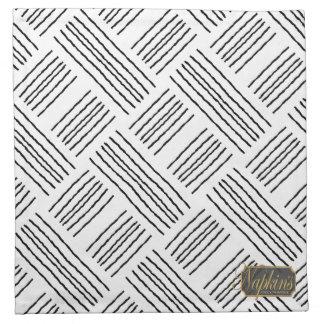 Vertical Horizontal Lines Cloth Napkin