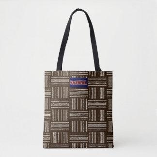 Vertical Horizontal Lines Designer Modern Lady Bag