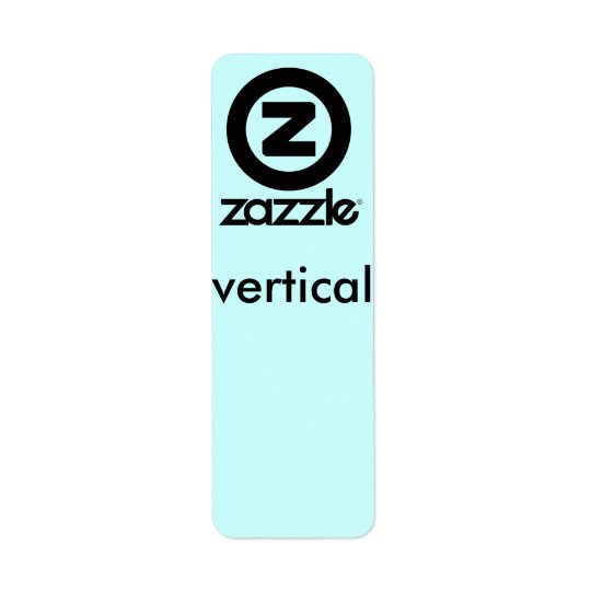 vertical label, small