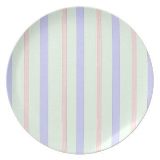 Vertical Pastel Stripes Plate