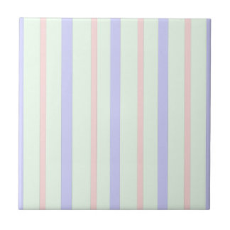 Vertical Pastel Stripes Tile