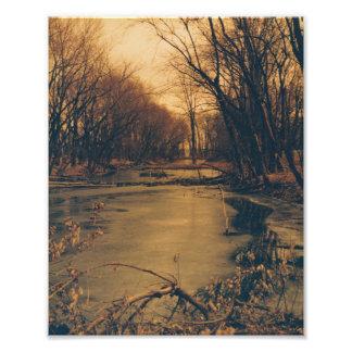 vertical photo of winter river scene