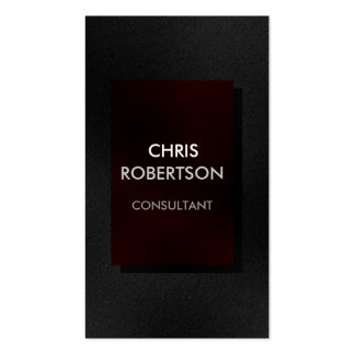 Vertical Plain Gray Red Attractive Business Card