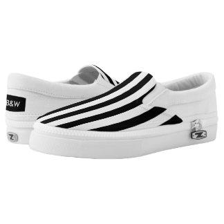 Vertical Print Slip-On Sneakers