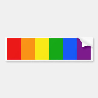 """VERTICAL RAINBOW STRIPES"" BUMPER STICKER"
