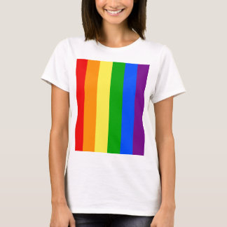 """VERTICAL RAINBOW STRIPES"" T-Shirt"