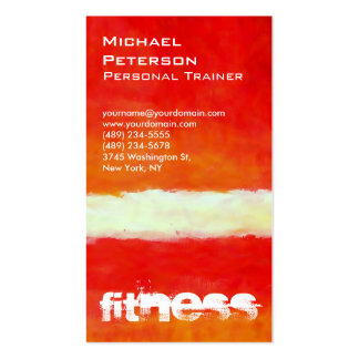 Vertical Red Abstract Fitness Sport Business Card