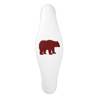 Vertical Red Bear Ceramic Cabinet Pull