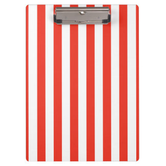 Vertical Red Stripes Clipboard