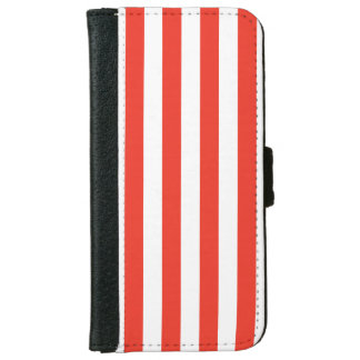 Vertical Red Stripes iPhone 6 Wallet Case