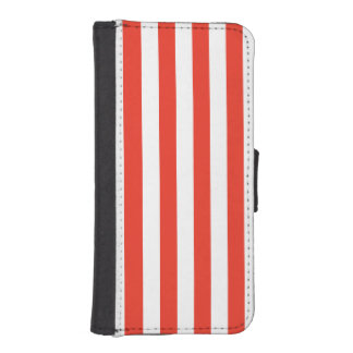 Vertical Red Stripes iPhone SE/5/5s Wallet Case
