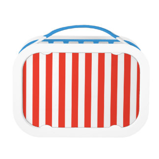 Vertical Red Stripes Lunch Box