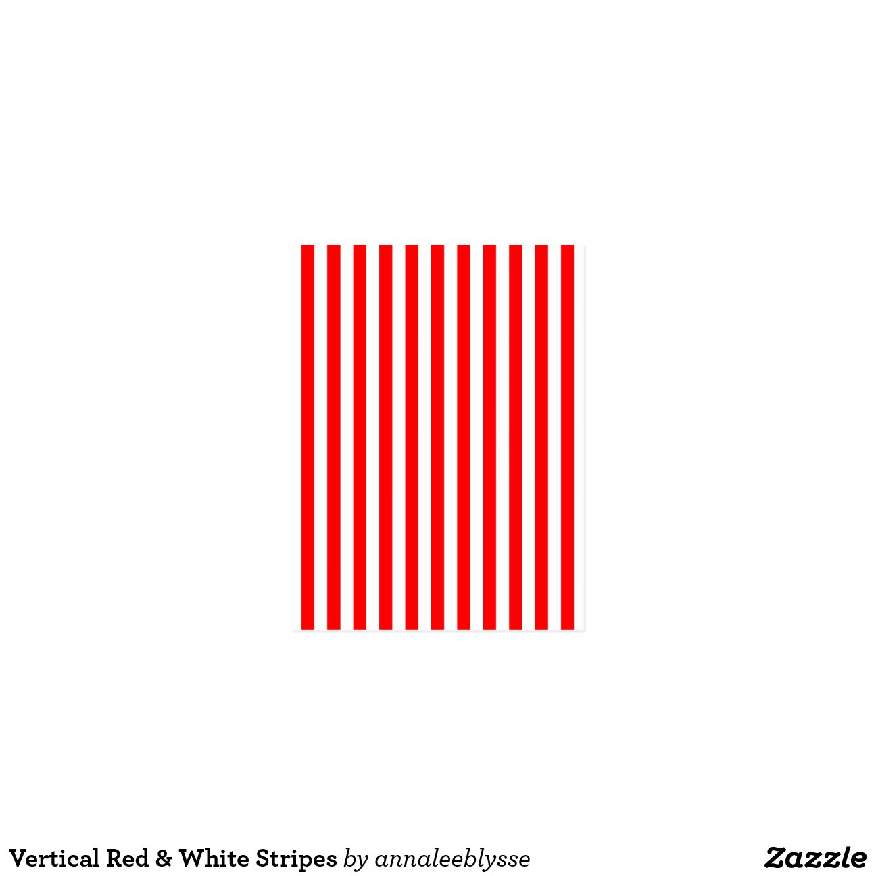 Vertical Red & White Stripes | Zazzle