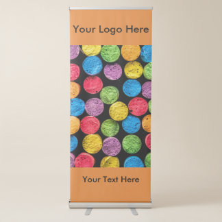 Vertical Retractable Banner with abstract chalk