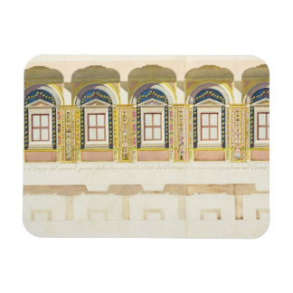Vertical section of the second floor of the Raphae Rectangular Photo Magnet