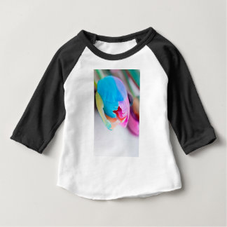 Vertical shoot of unusual multi colored tulip baby T-Shirt
