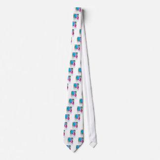 Vertical shoot of unusual multi colored tulip tie