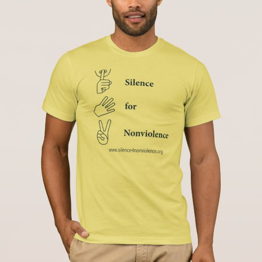 Vertical Silence for Nonviolence Design T-Shirt