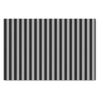 Vertical Silver and Black Stripes Tissue Paper