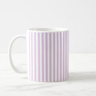 Vertical Soft Purple and White Stripes Coffee Mug