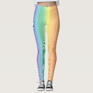 vertical stripe multicolour leggings