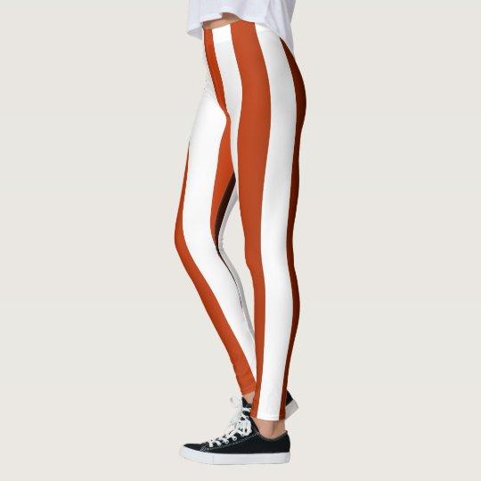 Vertical Striped Designer ~ Maroon ~ Black ~ Leggings