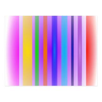 Vertical Stripes Art Lavender Haze Postcard