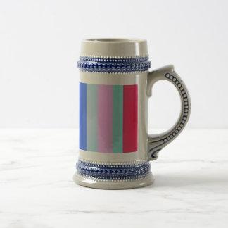 Vertical Stripes Art Square 18 Oz Beer Stein