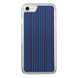 Vertical Stripes Blue Green Purple Carved iPhone 7 Case