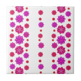 Vertical Stripes Floral Pattern Collage Tiles